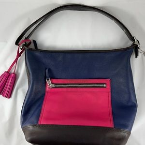 Coach Colorblock Legacy Convertible Leather Hobo